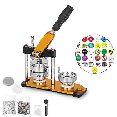 OrangeA Button Maker 75mm Badge Machine with 100 Sets Circle