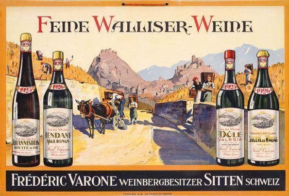 Feine Walliser-Weine, Frédéric Varone, Sitten Schweiz by Anonymous / 1926