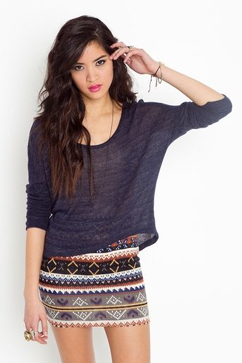 skirt #print #navy #crop find more women fashion ideas on www.misspool.com ||||| LOVING the sheer look