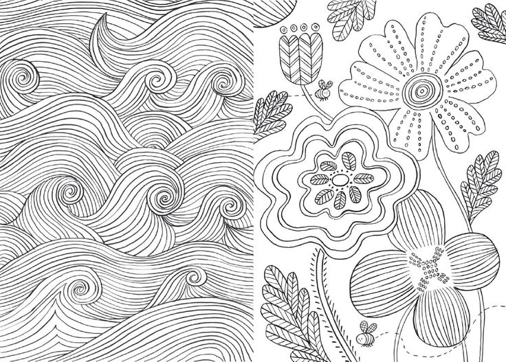 Coloring Therapy For Adults Online : The 130 best images about adult coloring pages on pinterest