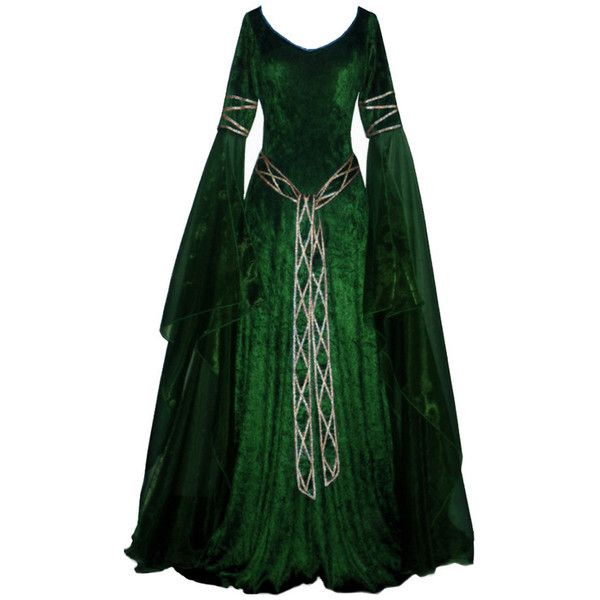edited by kate7695 ❤ liked on Polyvore featuring dresses, medieval, gowns, long dresses and costumes