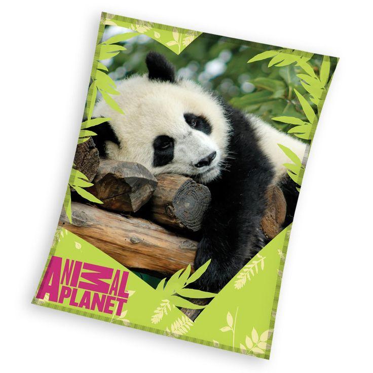 """Animal Planet """"Panda"""" koc polarowy 120x150 - Animal Planet - www.tyle.com.pl"""