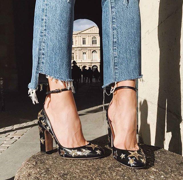 Star Print Heels