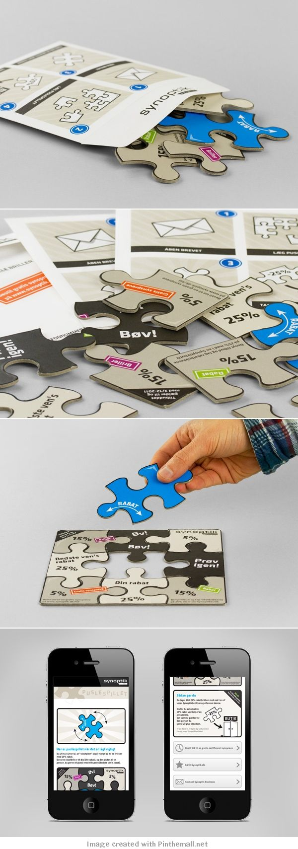 Direct mail, this comes as a jigsaw so the receiver can create the image themselves - 'make your own adventure'