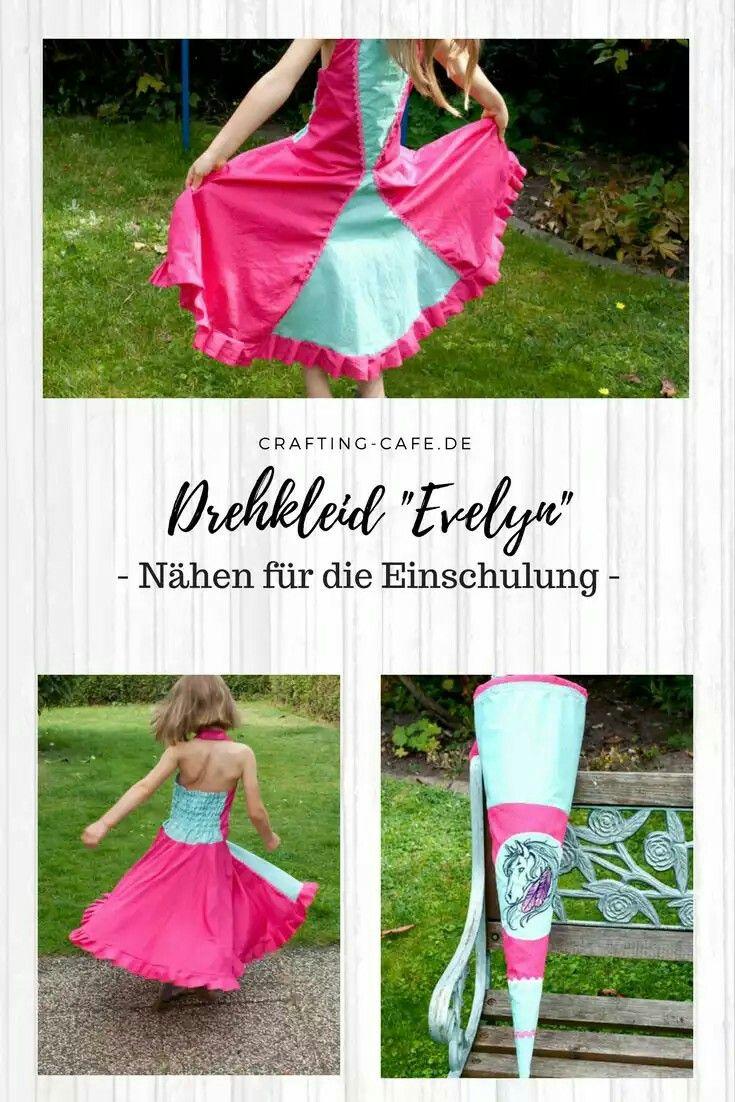 Ein Drehkleid zur Einschulung nähen? Ich stelle das Neckholder Drehkleid Evelyn vor - ein süßes Sommerkleid für besondere Anlässe!