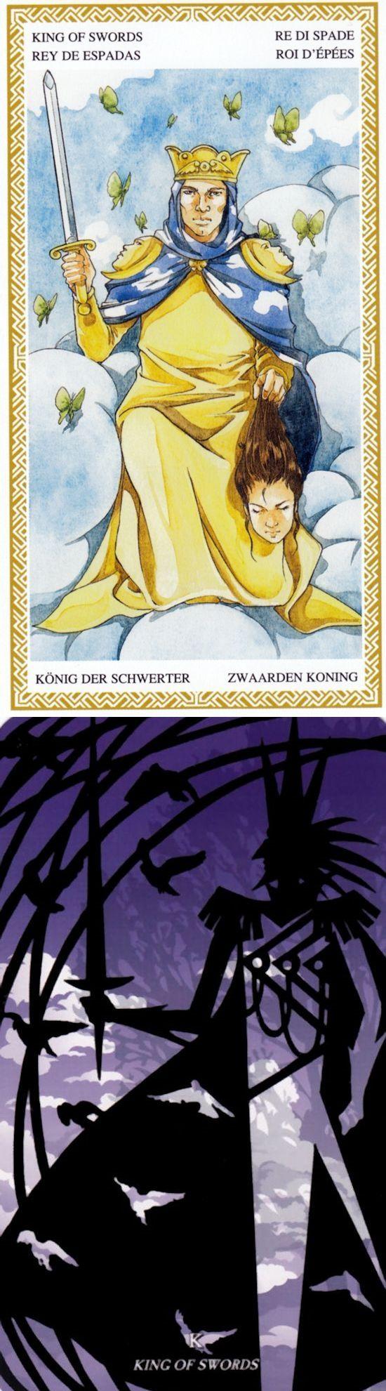 King of Swords: power and manipulative (reverse). Loscarabeo Tarot deck and Silhouette Tarot deck: tero card, tarotaquarius vs free lotus tarot reading 2016. The best tarot cards art and divination spell. #gothwitch #pentagram #empress #goth