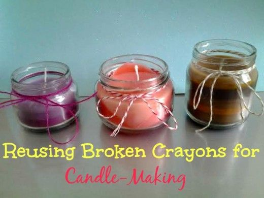 how to make candles with crayons no wax