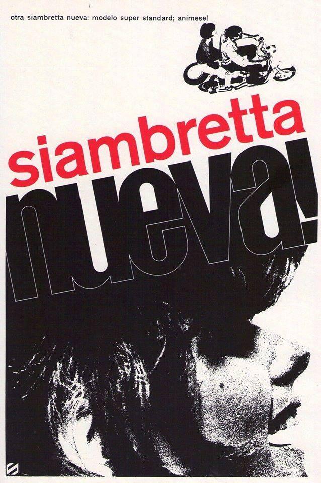 SIAMBRETTA, 1964. La modelo es Claudia Sánchez.