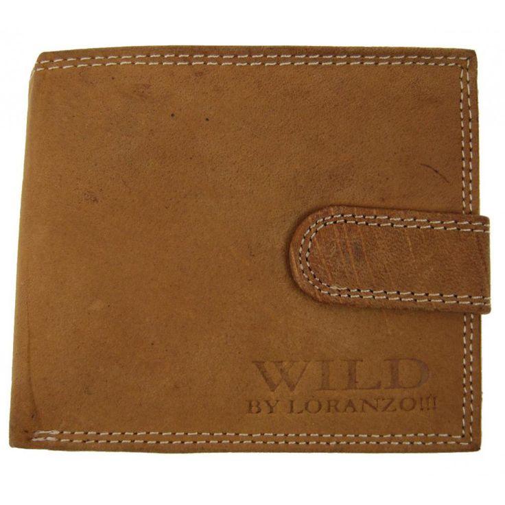 Pánská stylová peněženka z broušené kůže WILD 995 přírodní hnědá