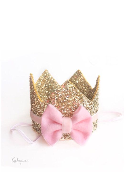 1st birthday crown headband customizeable boy or by Kichiqueen