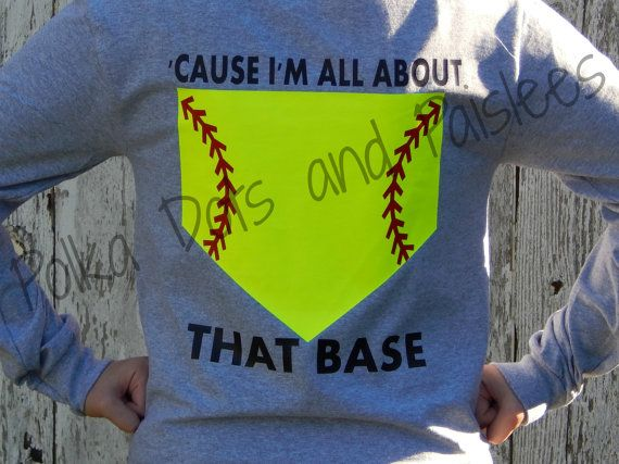 Womens Custom All About That Base Softball Shirt by PumpkinPieGirl