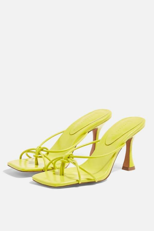 Topshop REX Lime Knot Mules   Trending
