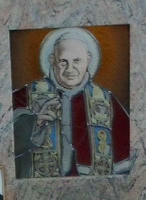 Papa Giovanni XXIII vetro piombato
