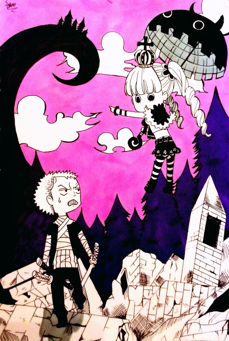 Zoro and Perona from One piece