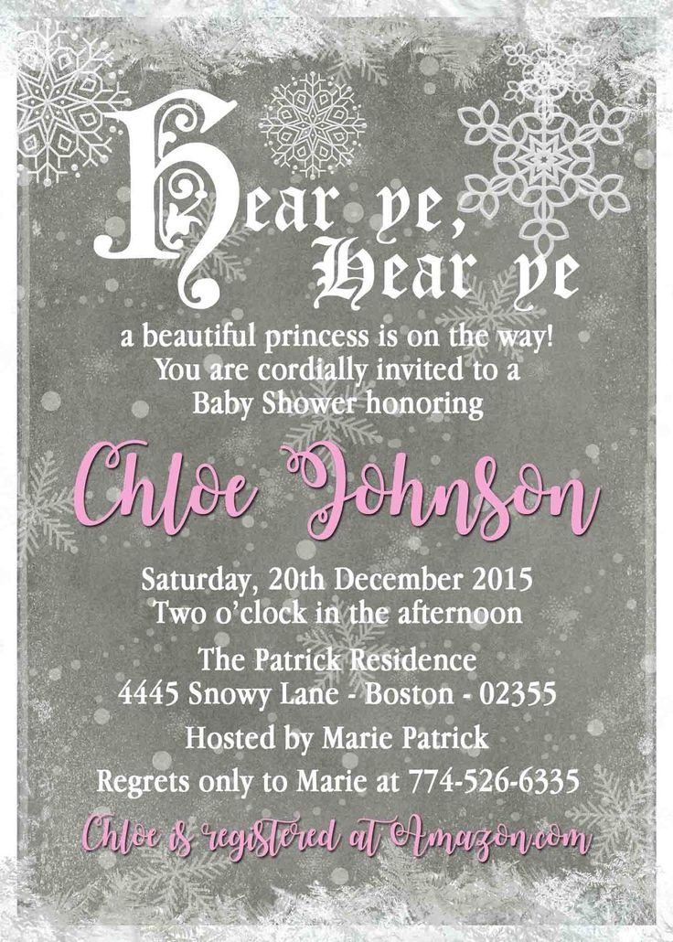 105 best invitations images on pinterest wonderland birthday winter wonderland snowflake baby shower invitation blue pink personalized stopboris Gallery