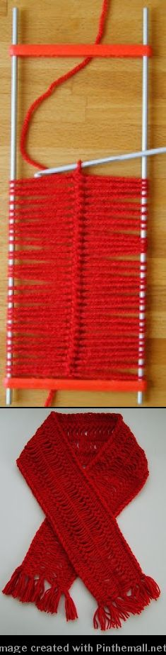 clear instructions for hairpin lace crochet scarf - sweet!