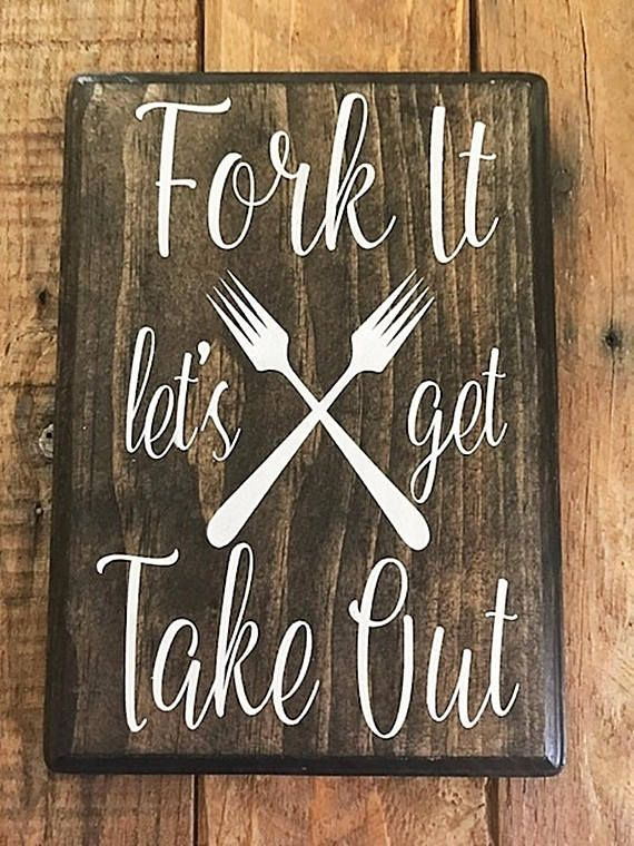Kitchen Sign - Kitchen Wall Art - Kitchen Decor - Kitchen Wall Decor - Kitchen Wall Sign - Hand Painted Sign - Kitchen Wood Decor #feast #sign #rustic #farmhouse #fall #thanksgiving #feast #diy #sign #homedecor #diningroom #kitchen #rusticdecor #farmhousestyle #humor #funny #forkit #funny #affiliate