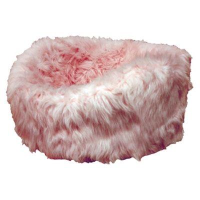 Luxury Plush Dog Bed- Pink