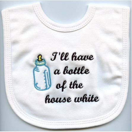 Kids :: Children's Accessories :: Baby Talk Bib - House White