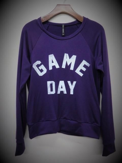Purple Game Day Sweater Top