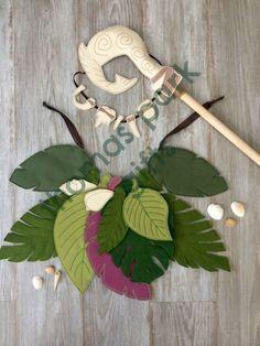 Moana Maui Kostüm, Maui magischen Fisch Haken, Zahn Halskette, Moana Zahn Halskette Halbgott Fisch Haken, Hawaiian Angelhaken, Maui Zahn Halskette
