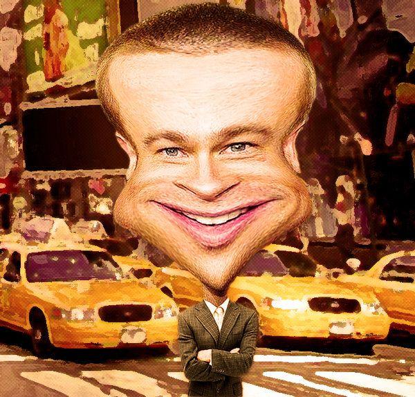 Pitt Caricature ~ say hay! Metropolis Man