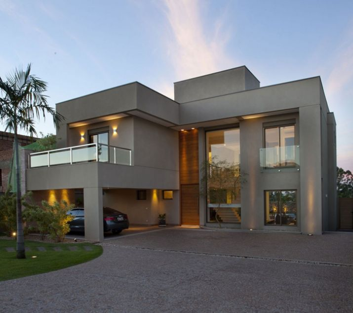 30 Fachadas de casas modernas e cinza – a cor do momento!                                                                                                                                                                                 Más