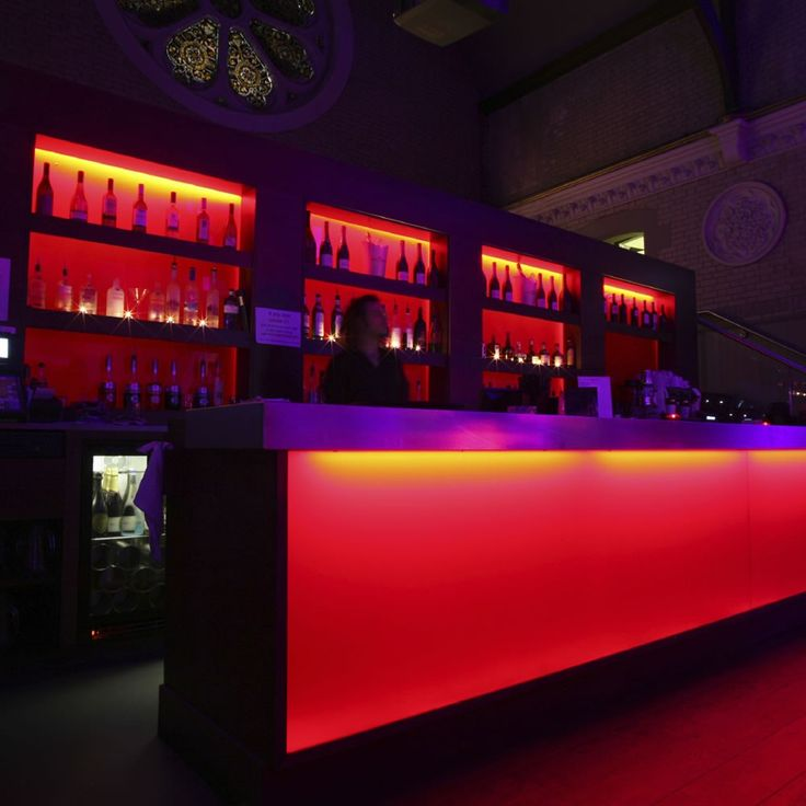 This colour changing LED striplighting is great for jazzing up bars and clubs. Available at Springlights in Kloof, Durban.