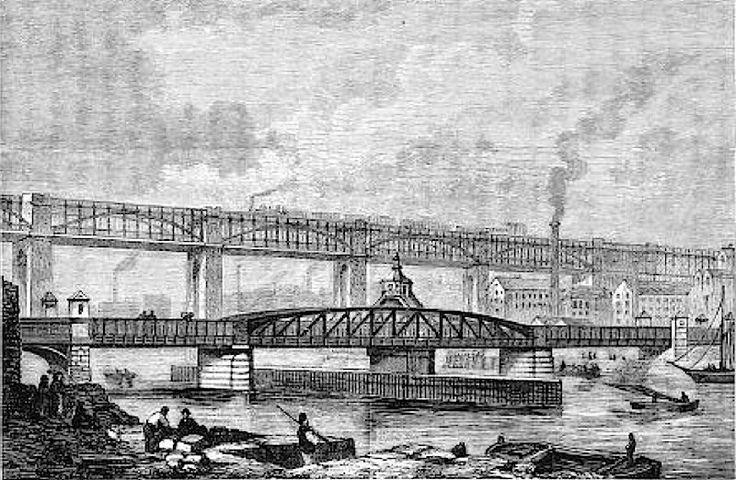 High Level Bridge with train