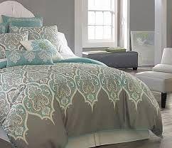 3 pc queen teal gray comforter set aqua blue grey medallion moroccan paisley in home u0026 garden bedding comforters u0026 sets
