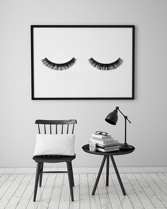 "Minimalist Poster ""Wimpern"", Fashion Print, Wall Decor, Minimal-Art, Glamour, Fashion Wandkunst, Modeplakat, Schönheit, Schlafzimmer Decor."