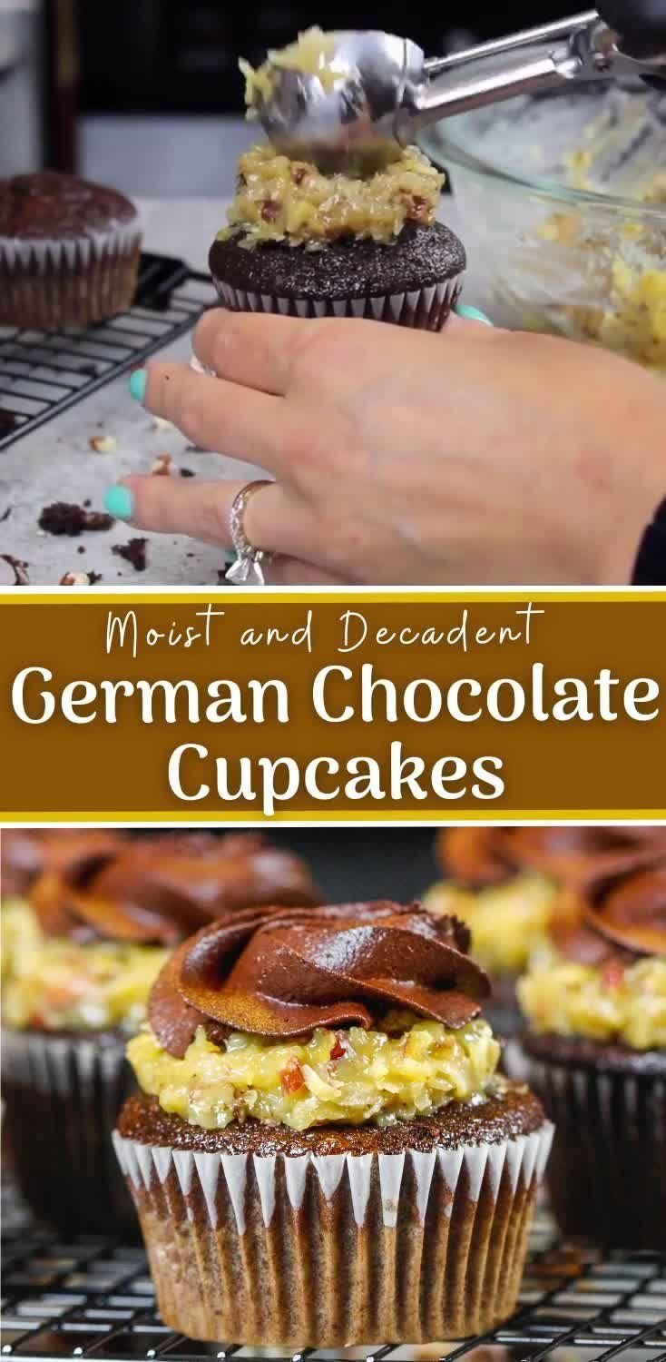 German Chocolate Cupcakes, Chocolate Cupcakes Filled, Chocolate Filling, Chocolate Frosting, Decadent Chocolate, Mexican Hot Chocolate Cupcakes Recipe, Pecan Cupcakes Recipe, Flavored Cupcakes, Chocolate Raspberry Cupcakes