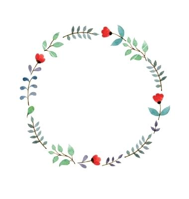 Floral Frame Vector Watercolor Crown By Sundaycake On VectorStock