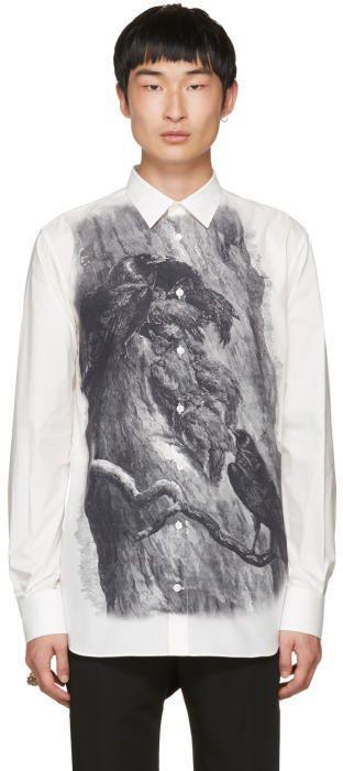 Alexander McQueen Off-White Bird Shirt