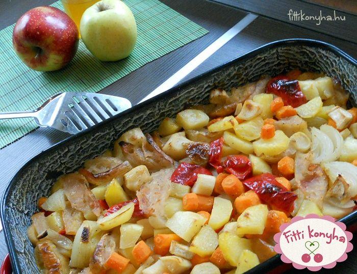 Tepsis burgonya almával és mézzel - Szilvi ÍzVilág