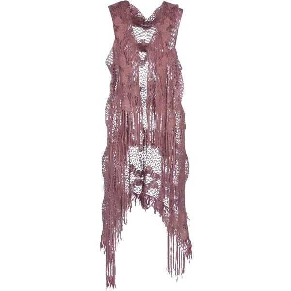Sarah Jackson Cardigan (105 BRL) ❤ liked on Polyvore featuring tops, cardigans, blazers, vests, mauve, sleeveless cardigan vest, lightweight cardigan, no sleeve cardigan, sleeveless cardigan and sleeveless tops
