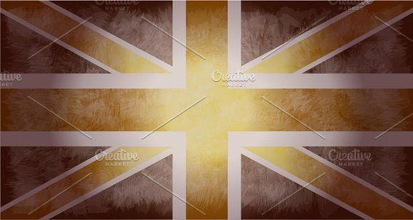 British flag grunge vector. Objects. $5.00