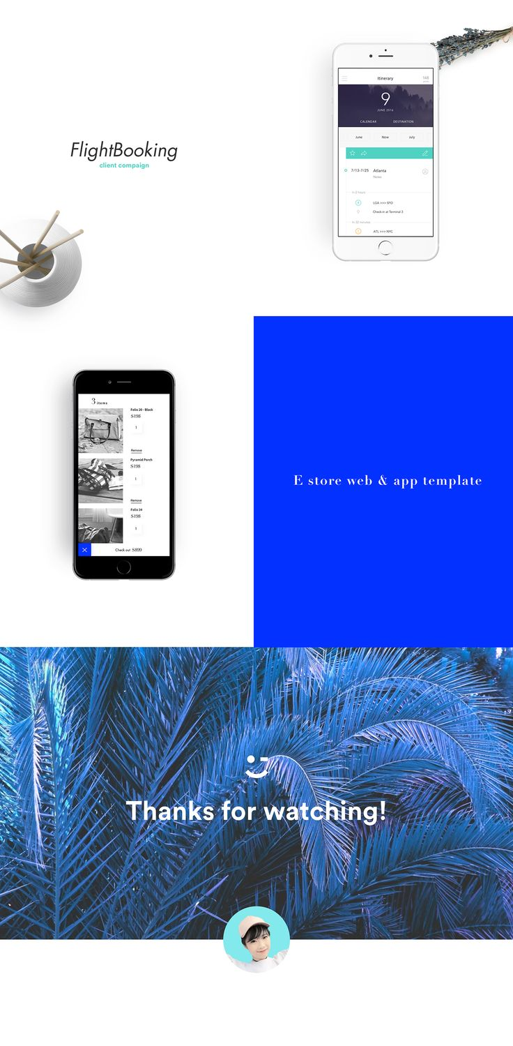 12 selected phone app works done last year on Behance