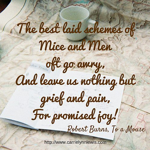 The best schemes of mice and men... | via http://www.carrielynnlewis.com/the-writing-life/images-to-share-plans-gone-awry/ | #quote #inspiration