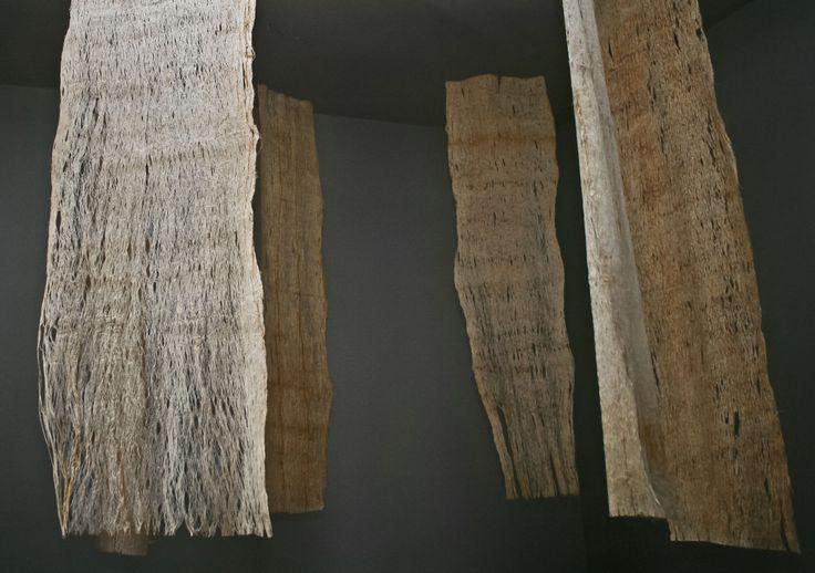 """Artwork Margarita De la Peña / Mar De la Peña / """"Gracias"""" Installation / Raw Pre-Paper from ancestral mayan traditions."""