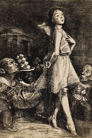 Infanta and her dwarfs by Bruno Schulz, [ca 1920-1922]. Jagiellońska Biblioteka Cyfrowa, Public Domain