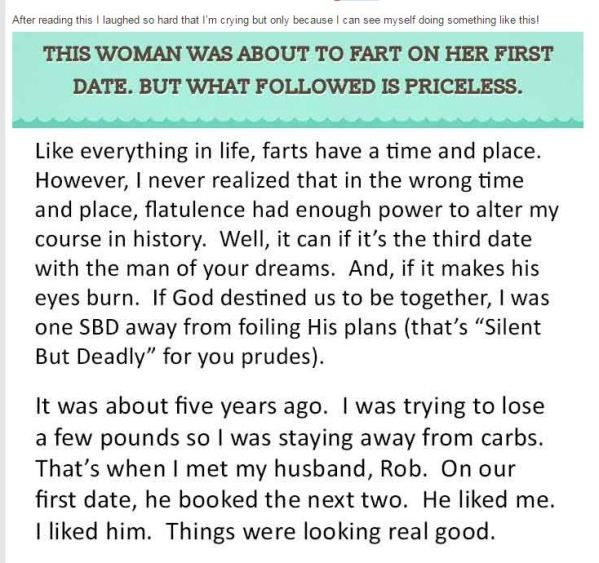 The Most Craziest Fart Story Ever. This Is Priceless (This is the funniest thing I have ever read!  Get kleenex, you'll need it!)