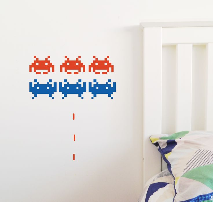 Space Invaders Wall Stickers. Relive the 80's! #80 #spaceinvaders #wallstickers