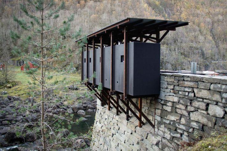 object held in frame truss / ryfylke / nasjonale turistveger / zumthor: