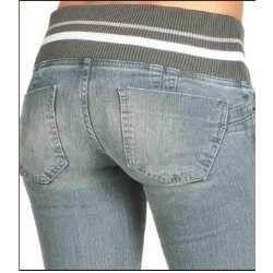 A legging jeans da marca sawary  vem com elástico largo no cós, o que proporciona a peça um detalhe diferenciado.  Onde Encontrar
