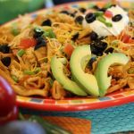 Two of our favorite things: Mexican food and pasta, all in one fabulous recipe! Your family is sure to be asking for this dish many times over. Enjoy!