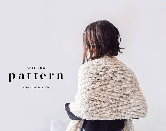 Wrap Knitting Pattern / Bulky Scarf Knitting Pattern / Oversize ...