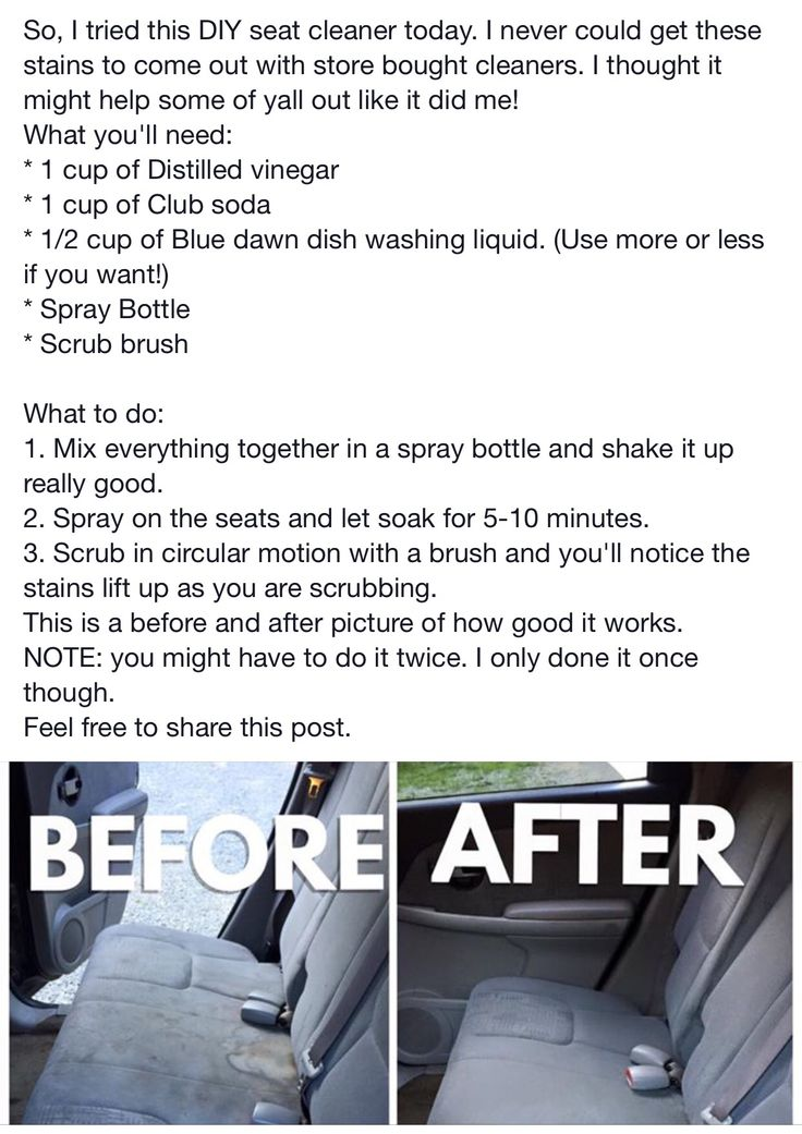 DIY car interior cleaner