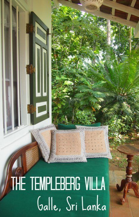 The Templeberg Villa Galle Sri Lanka. Great family or couples accmmodation near beautiful Galle. Sri Lanka travel