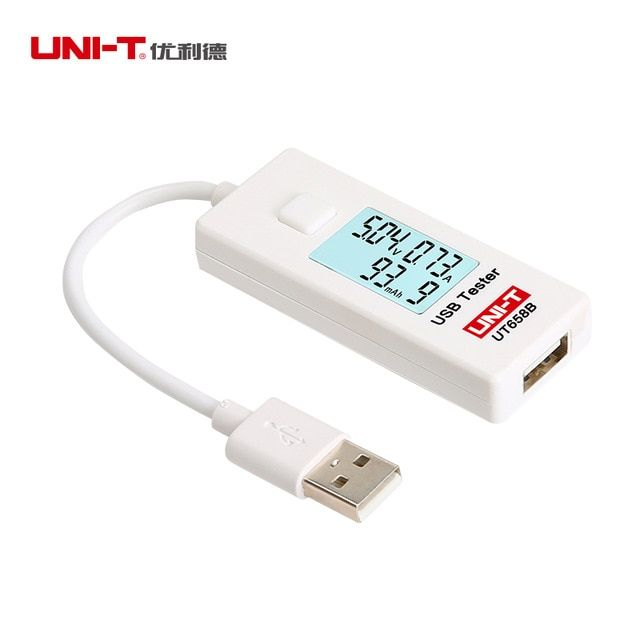 UNI-T UT658B LCD USB Tester Charger Mobile Power Detector Voltage Current Meter